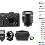 Awesome Deal: Nikon V1 Super Kit with 10-100, SB-N5 Flash, FT1 Adapter, 10-30mm, and bag for $899