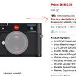 UPDATE: New Leica M 240 Estimated Release date: April 30th 2013