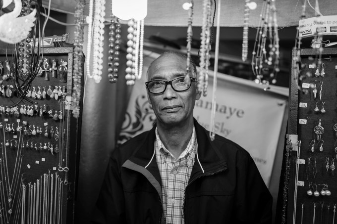 Man in jewelery shop