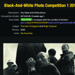 And the winner of $25,000 and a Leica Monochrom is...