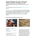 PRESS RELEASE: HoldFastGear releases the Sightseer Sling Strap