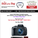 Crazy ONE DAY DEAL on Canon Rebel T5i and 18-55 and Printer! $399!
