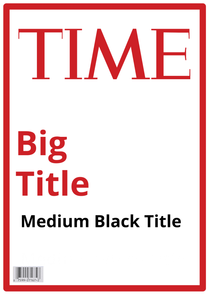 Time Magazine Covers Template | Resume Maker: Create professional ...