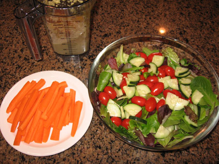 Raw food diet day 13 dinner