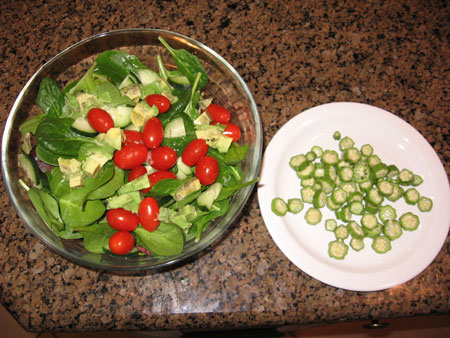 Raw food diet day 14 dinner