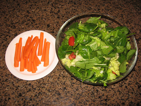 Raw food diet day 18 dinner