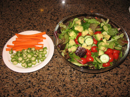 Raw food diet day 21 lunch