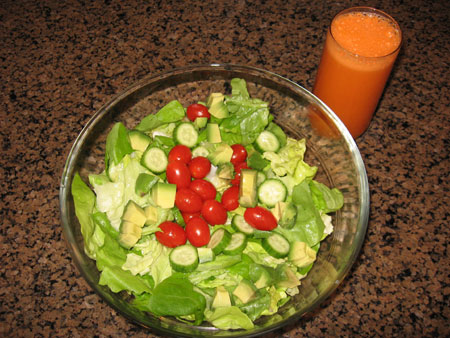 Raw food diet day 26 lunch