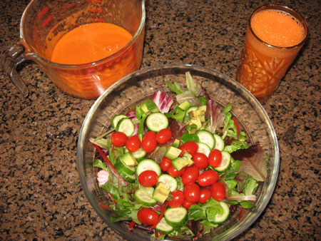 Raw food diet day 30 lunch