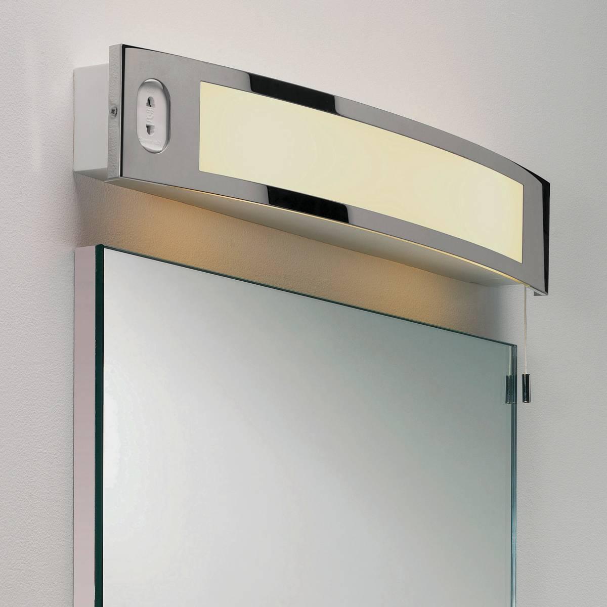 bathroom light with shaver socket