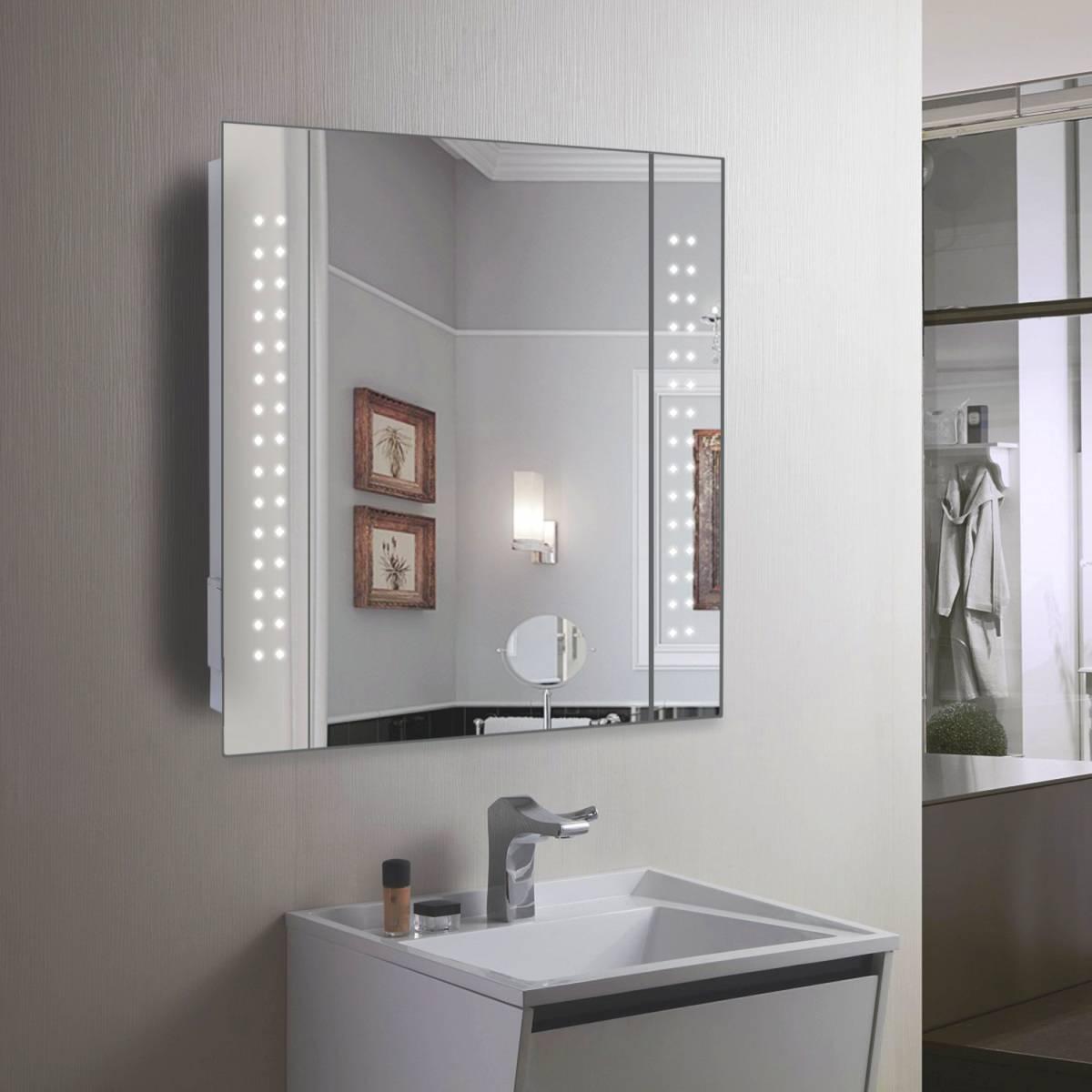 Qs Supplies Bathroom Mirrors Led Mirrors Hib Aztec With Glass Shelf