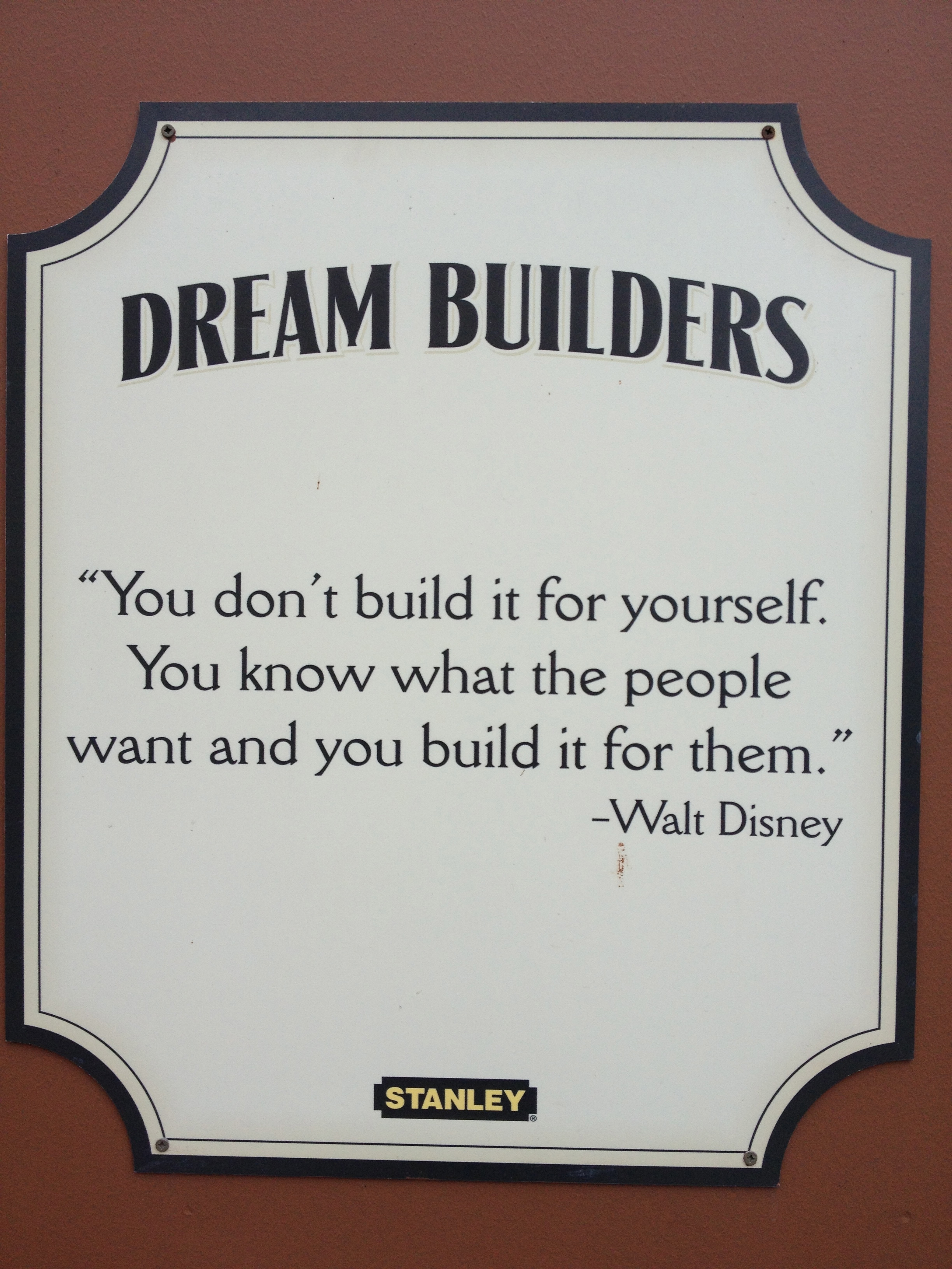 dream builders 1 you don t build it for yourself st