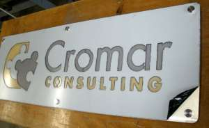 Laser Cut Custom Sign Cromar Consulting