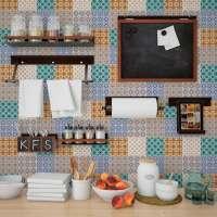 Decorative vinyl adhesive tiles