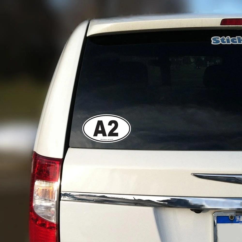 Ann Arbor Oval A2 Sticker