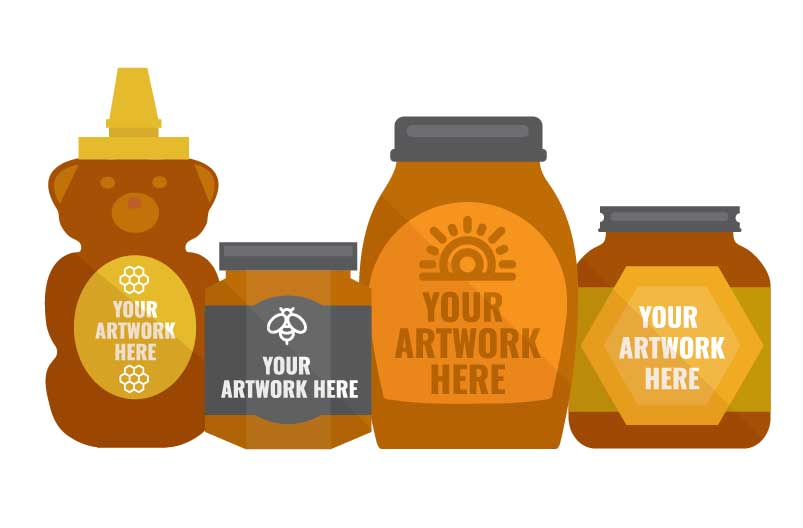 Custom Labels for Honey Products and Packaging