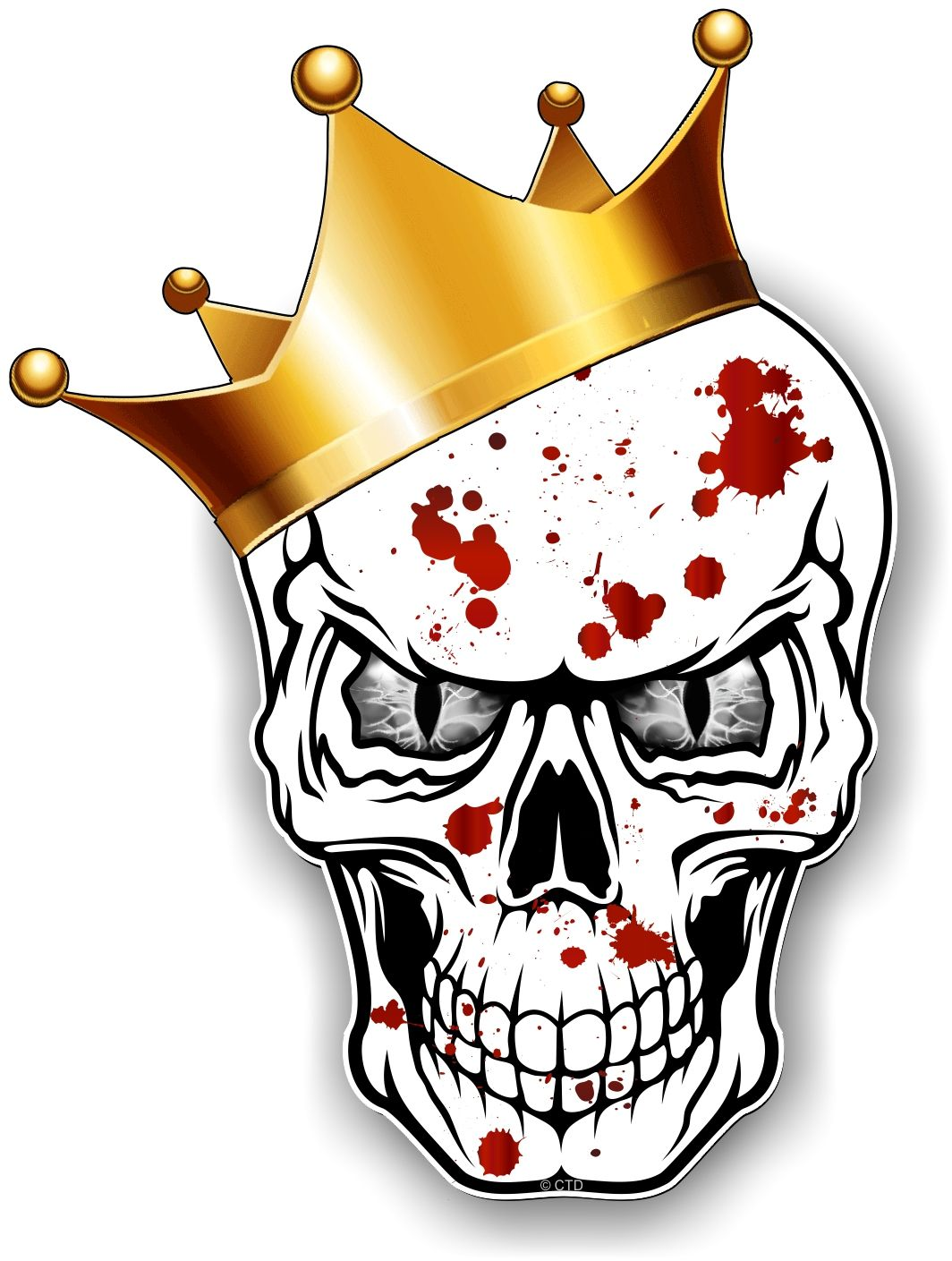 Muscle Car Wallpaper Iphone 6 Gothic King Of Skull Skulls With Grey Evil Eyes And Crown