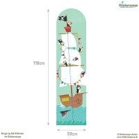 Pirate height chart wall sticker   Height charts ...