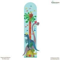 Dinosaur height chart wall sticker   Height chart wall ...