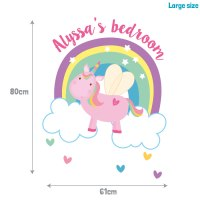 Personalised flying unicorn wall sticker | Stickerscape | UK