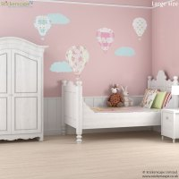 Vintage hot air balloon wall stickers | Transport wall ...