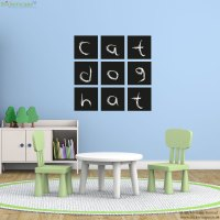 Set of square chalkboard wall stickers | Stickerscape | UK