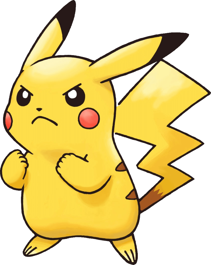 Cute Stitch On Side Wallpaper Angry Pikachu Pokemon Transparent Png Stickpng