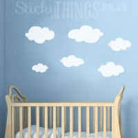 Clouds Wall Art Decal - Clouds Wall Stickers ...