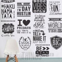 Office Wall Art Decal Quote: Be Bold - StickyThings.co.za