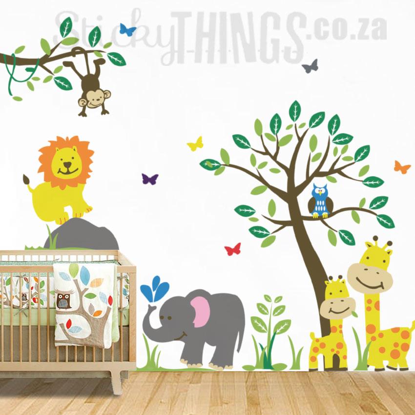 Safari Jungle Nursery Wall Sticker