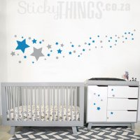 Stars Wall Sticker - Stars Wall Decal on StickyThings.co.za