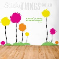 Dr Seuss Wall Art Decal - Truffula Trees by StickyThings.co.za