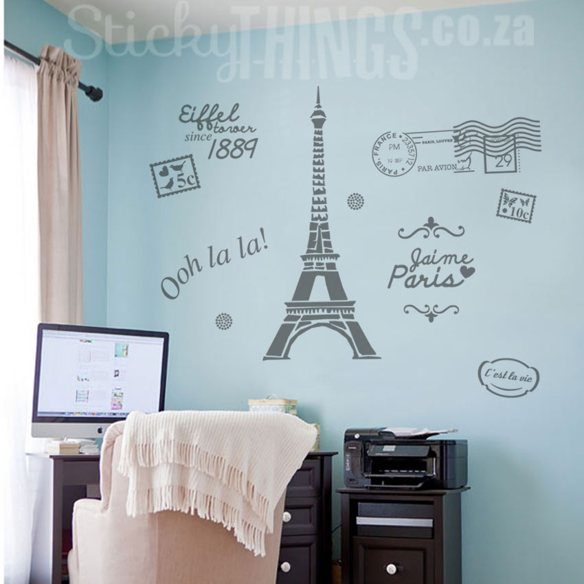 3d Brick Wallpaper South Africa Paris Wall Art Paris Decal Wall Sticker Stickythings