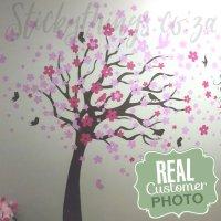 Blowing Cherry Tree Wall Art - Cherry Tree Wall Decal ...