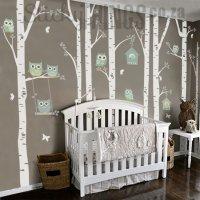 The Owl Nursery Wall Vinyl Forest - Owl Nursery Decals ...