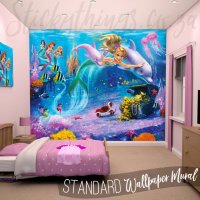 Mermaid Wall Mural - Underwater Mermaids Wallpaper ...