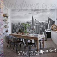 New York City Mural - New York Black and White Wallpaper ...