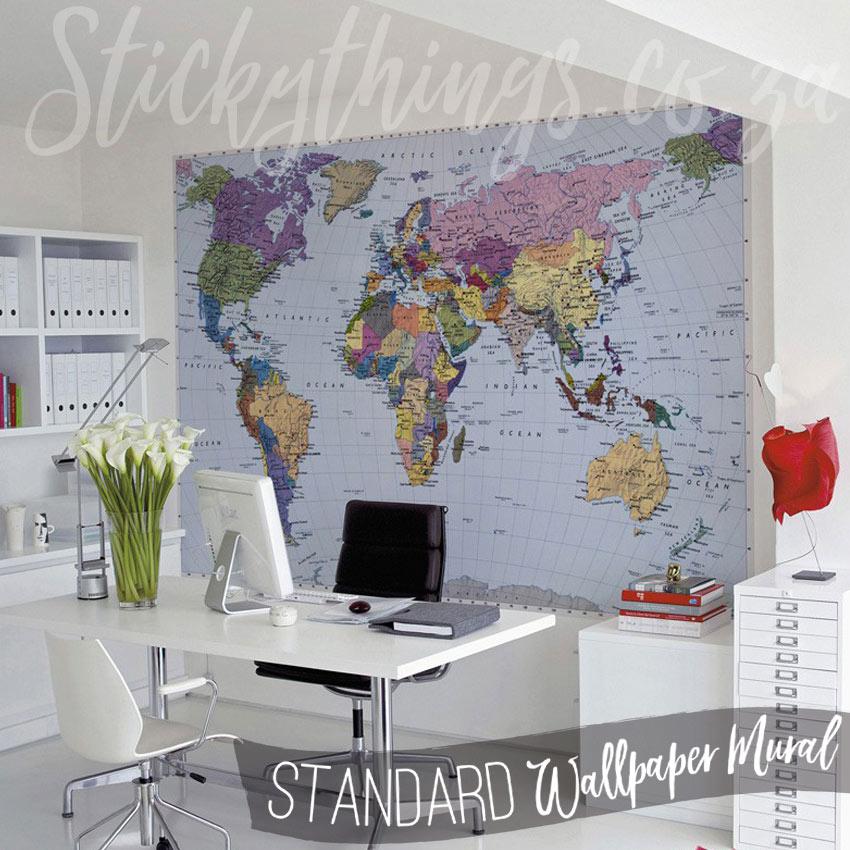 3d Brick Wallpaper South Africa World Map Mural Geographical World Map Wallpaper