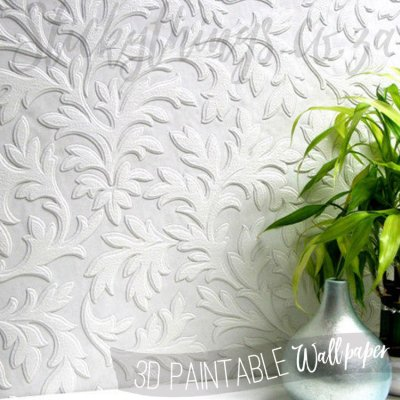 High Leaf Paintable Textured Vinyl - 3D Luxury Paintable Wallpaper - StickyThings South Africa