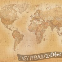 Vintage World Map Mural - Old World Map Wall Mural ...
