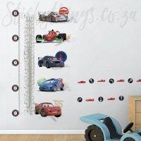 Disney Cars Growth Chart Wall Sticker - Growth Chart Decal ...