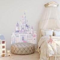 Disney Glitter Castle Wall Sticker - Giant Glitter Wall ...