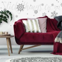 Re-usable Glitter Snowflakes Wall Stickers - Glitter ...