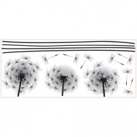 Peel & Stick Giant Blowing Dandelion Wall Decal ...