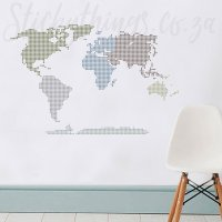 Modern World Map Wall Sticker - Travel the World Decal ...