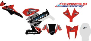 striping motor yamaha R15 SHARK