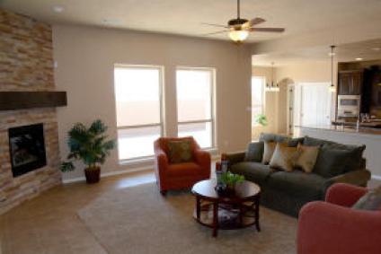 Fam. Room showing carpet insert