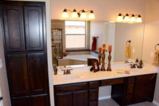 Mstr Double Sink Vanity & Linen