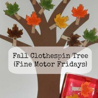 Fall Clothespin Tree {Fine Motor Fridays}