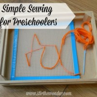 Simple Sewing for Preschoolers